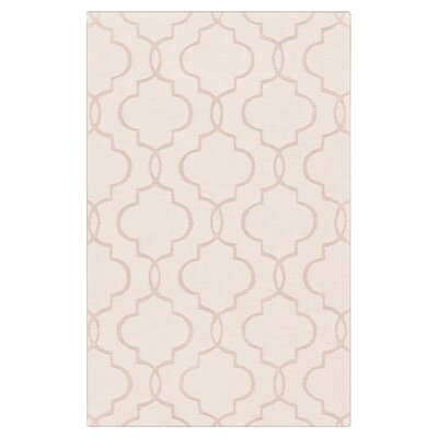 Villegas Hand-Woven Ivory Area Rug Rug Size: 8 x 11