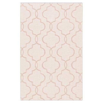 Villegas Hand-Woven Ivory Area Rug Rug Size: 33 x 53