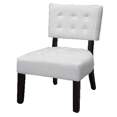 Modern Vinyl Slipper Chair Color: White