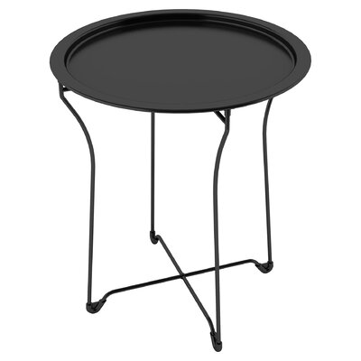 Sims Metal Tray End Table Finish: Black