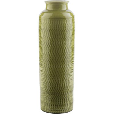 Beck Ceramic Table Vase Color: Moss, Size: 13.98