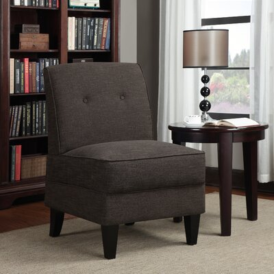 Klein Slipper Chair Upholstery: Chocolate Linen