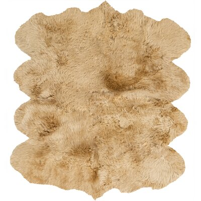 West Hewish Hand-Woven Beige Area Rug Rug Size: Rectangle 6 x 8