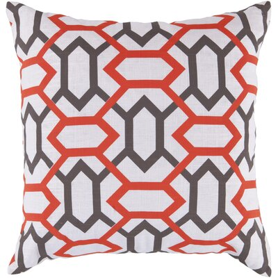 Applying the Diamonds Throw Pillow Size: 22 H x 22 W x 4 D, Color: Orange-Red / Mulled Wine / Icicle, Filler: Polyester