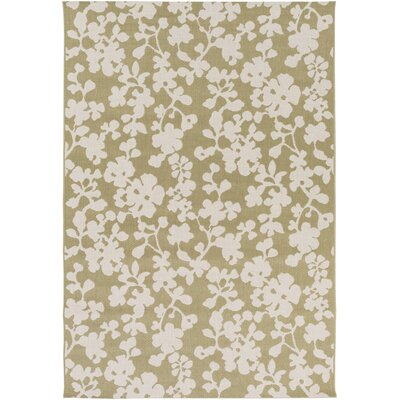 West Town Green/White Indoor/Outdoor Area Rug Rug Size: 52 x 76