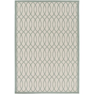 West Town Beige/Gray Indoor/Outdoor Area Rug Rug Size: Rectangle 52 x 76