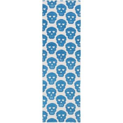 Westbury Park Hand-Woven Blue/Beige Area Rug Rug Size: Runner 26 x 8