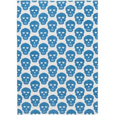 Westbury Park Hand-Woven Blue/Beige Area Rug Rug Size: 4' x 6'