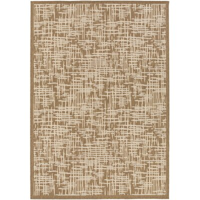 Westbury Brown/Beige Indoor/Outdoor Area Rug Rug Size: 36 x 56