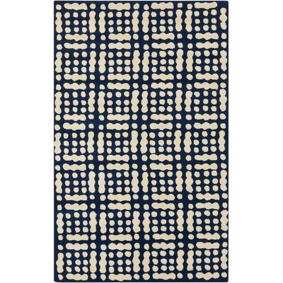 West Hill Blue/Beige Indoor / outdoor Area Rug Rug Size: Rectangle 5 x 76