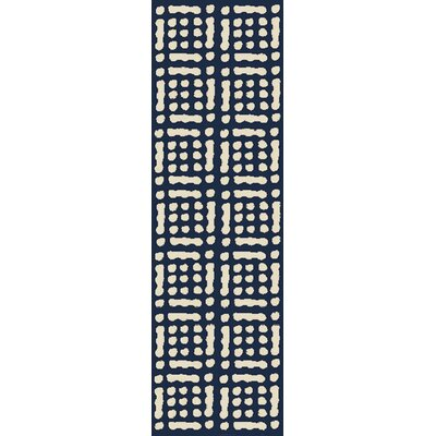 West Hill Blue/Beige Indoor / outdoor Area Rug Rug Size: Runner 26 x 8