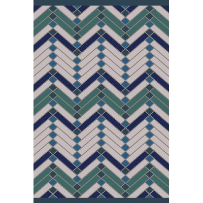 Wellow Green/Blue Area Rug Rug Size: 5 x 76