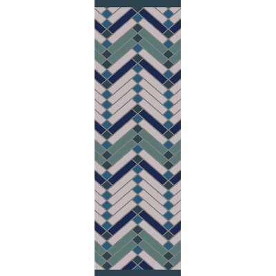 Wellow Green/Blue Area Rug Rug Size: Runner 26 x 8