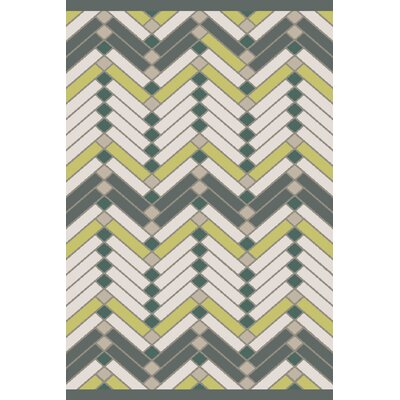 Wellow Hand Woven Beige/Green Area Rug Rug Size: Rectangle 5 x 76