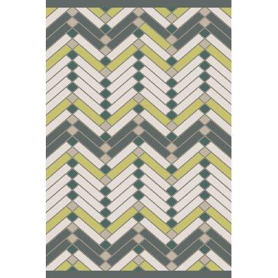 Wellow Hand Woven Beige/Green Area Rug Rug Size: 5 x 76
