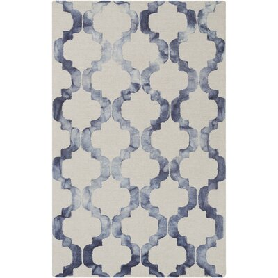 West Harptree Beige/Blue Area Rug Rug Size: 33 x 53