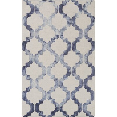 West Harptree Beige/Blue Area Rug Rug Size: 4 x 6