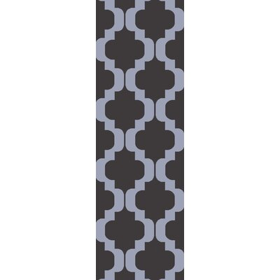 West Harptree Black/Purple Area Rug Rug Size: Runner 26 x 8