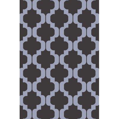 West Harptree Black/Purple Area Rug Rug Size: 33 x 53