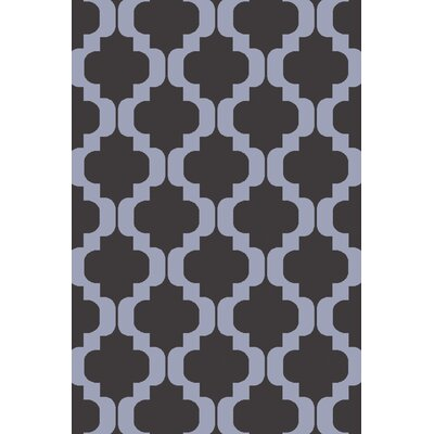 West Harptree Black/Purple Area Rug Rug Size: 4 x 6