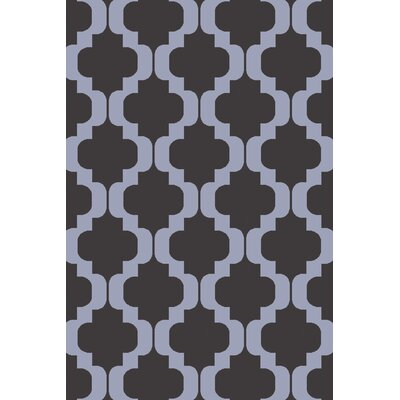 West Harptree Black/Purple Area Rug Rug Size: 8 x 10