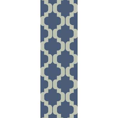 West Harptree Blue Area Rug Rug Size: Runner 26 x 8