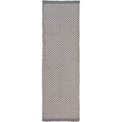 Walton Bay Hand-Woven Gray Indoor/Outdoor Area Rug Rug Size: Runner 26 x 8