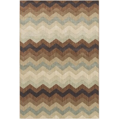 Tockington Beige/Brown Area Rug Rug Size: Rectangle 27 x 47