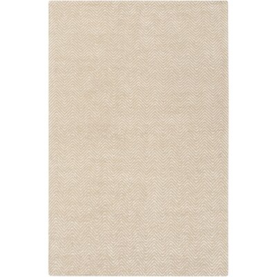 Tormarton Hand-Woven Beige Area Rug Rug Size: Rectangle 33 x 53