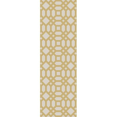Upper Shockerwick Gold/Beige Indoor/Outdoor Area Rug Rug Size: Runner 26 x 8