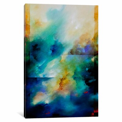 Aqua Breeze by CH Studios Graphic Art on Wrapped Canvas Size: 12
