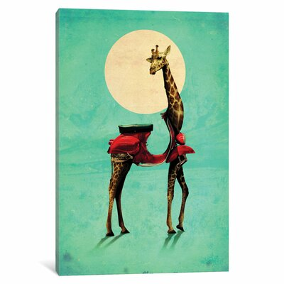 Giraffe Gb #2 by Ali Gulec Graphic Art on Wrapped Canvas