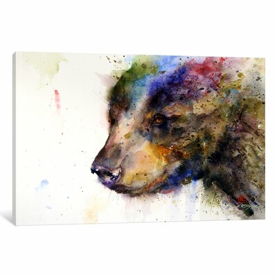Bear Print Painting on Wrapped Canvas Size: 12