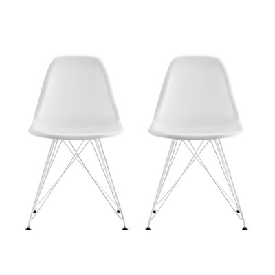 Arnetta Eiffel Metal Side Chair Color: White