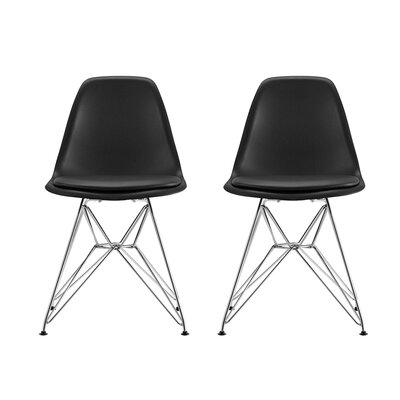Arnetta Eiffel Side Chair Upholstery: Black