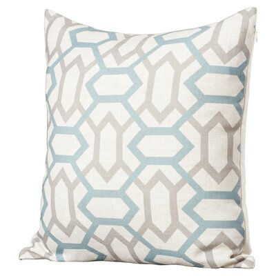 Appling the Diamonds Throw Pillow Size: 22 H x 22 W x 4 D, Color: Cameo Blue / Flint Gray / Peach Cream, Filler: Down