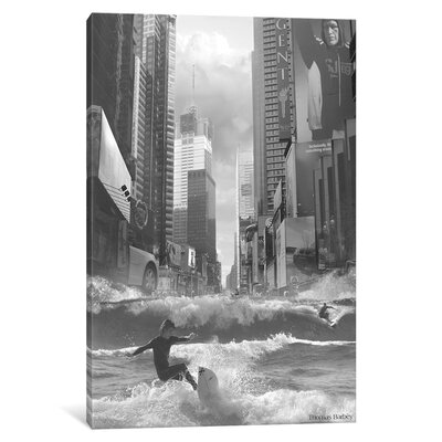 Swell Time in Town by Thomas Barbey Original Graphic Art on Wrapped Canvas Size: 26