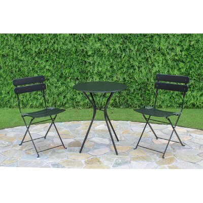 Lawncrest 3 Piece Dining Set Finish: Black