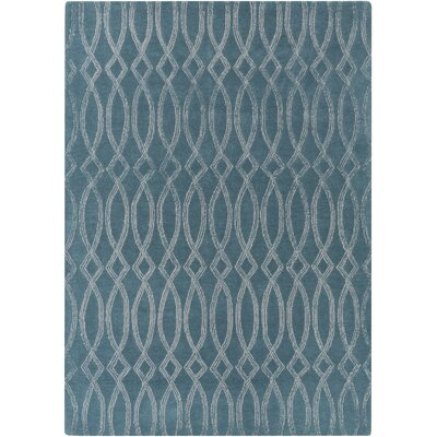 Armas Light Hand-Tufted Gray/Teal Area Rug Rug Size: Rectangle 5 x 76