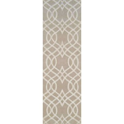 Armas Hand-Tufted Light Gray Area Rug Rug Size: Runner 26 x 8