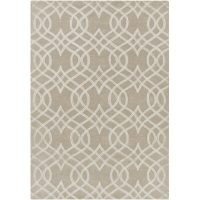 Armas Hand-Tufted Light Gray Area Rug Rug Size: Rectangle 5 x 76