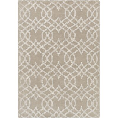 Armas Hand-Tufted Light Gray Area Rug Rug Size: 5 x 76