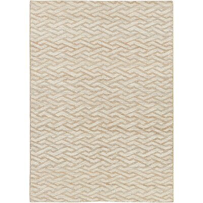 Bronzeville Hand-Woven Beige Area Rug Rug Size: Rectangle 4 x 6