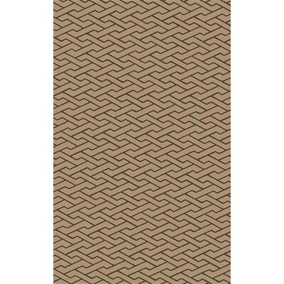 Amici Hand-Woven Chocolate Area Rug Rug Size: Rectangle 5 x 76