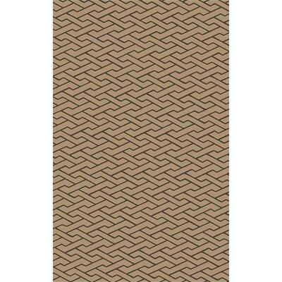 Amici Hand-Woven Chocolate Area Rug Rug Size: 4 x 6