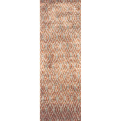 Arenas Hand-Woven Rust Area Rug Rug Size: Runner 26 x 10