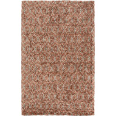 Arenas Hand-Woven Rust Area Rug Rug Size: 9 x 13