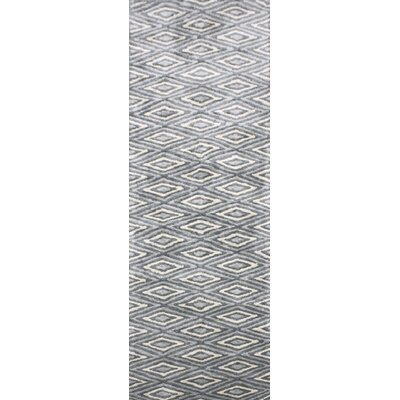 Arenas Hand-Woven Charcoal/Ivory Area Rug Rug Size: Runner 26 x 8