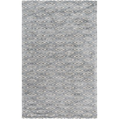 Arenas Hand-Woven Charcoal/Ivory Area Rug Rug Size: 6 x 9