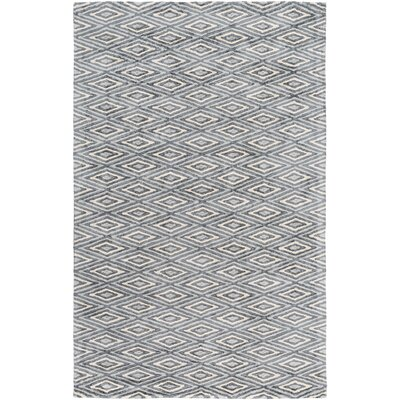 Arenas Hand-Woven Charcoal/Ivory Area Rug Rug Size: 9 x 13